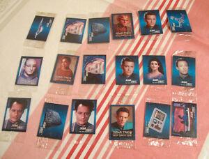 Lot de 18 petites cartes Star Trek Hostess 1993