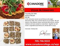 Cooking Class: Vegan Alternatives, Parry Sound, Canadore College