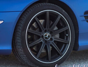OEM Mercedes AMG Wheels - Satin Black- Staggered