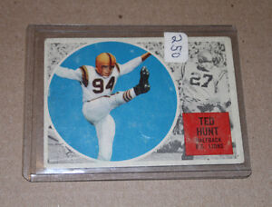 1960 Topps CFL #8: Ted Hunt