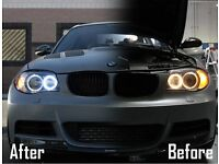 Bmw White Cree Angel eyes 1 year Guarantee E60 E92 E92 X5 X6