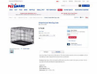 """Black Wire Dog Crate - 24""""L x 18""""W x 19""""H"""