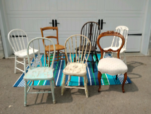 7  ----ANTIQUE CHAIRS----- ** SEE Each PRICE