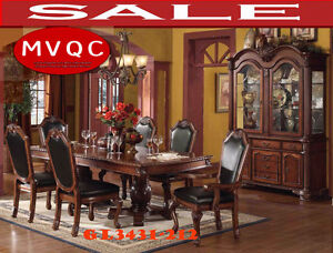 traditional dining room sets, pedestal tables, mvqc, gl3431-212,