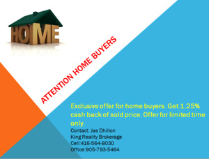 Exclusive offer for home buyers.Get 1.25% cash back
