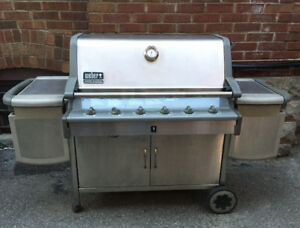 Weber Summit Platinum - 6 burner stainless steel barbecue