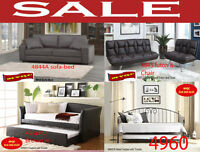 furniture sets couches, futons day beds, trundle, chairs divan