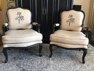 Set of 2 French Bergere chairs