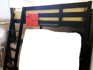 Double size loft bed frame