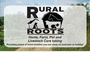 home, acreage and farm, pets and livestock care when you're away