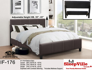 QUEEN PLATFORM BED/ 3 Colours Available FREE SAME DAY DELIVERY