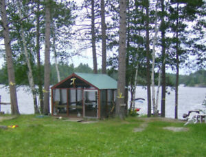 Rustic Lakefront Family Camp for Rent by the Week or Month
