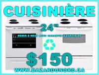 "Grossiste+Detaillant d'electromenagers/Cuisinieres24"" $150.00"