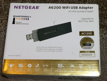 NETGEAR A6200 AC1200 WiFi USB Adapter Dual 2 4 /