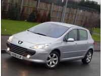 2006 56 Peugeot 307 1.6 16v S 5 Doors, 38k Low Mileage, Silver