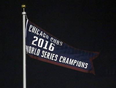 New Chicago Cubs 2016 World Series Championship Flag 2X5 Ft Wrigley Field Banner