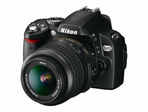 Camera Nikon D60 (Ensemble incluant 2 lentilles)