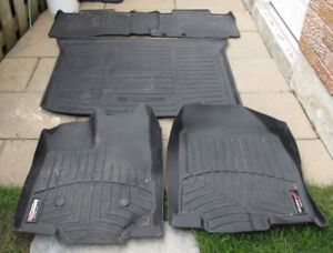 FORD EDGE FLOOR MATS WEATHER TECH 11 - 14 - GREAT CONDITION