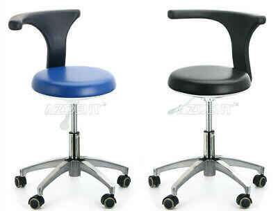 Dental Dentist Doctor Assistant Stool Adjustable Mobile Chair Pu Hard Leather