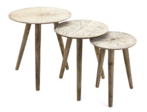 Hand Made Pattern Nesting Tables (Set of 3) -$175 GREAT DEAL
