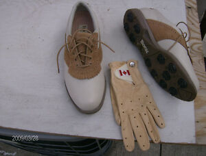 LADIES GOLF SHOES and GLOVE