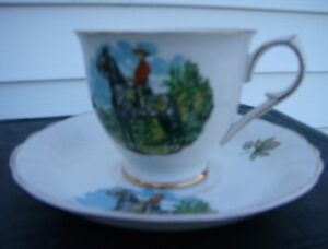 R.C.M.P. CUP AND SAUCER