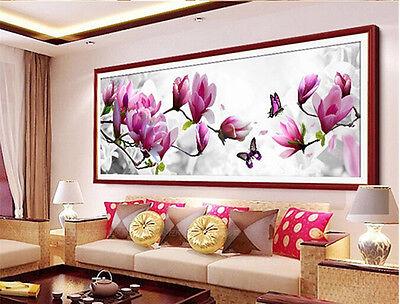 USA 5D Diamond Magnolia Flower Embroidery Painting DIY Stitch Craft Kit Decor