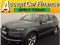 Audi Q7 3.0TDI ( 237bhp ) Tiptronic 2008MY quattro S Line FROM £62 PER WEEK!