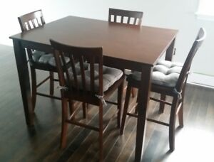 Pub Style Table and Chairs Set
