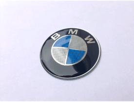 BMW Blue Carbon Fibre Front Bonnet Rear Boot Badge 82mm