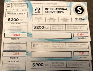 Market America International Convention Tickets - Special DEAL