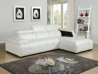 $999 - WHITE SECTIONAL DELUXE – free delivery  Modern styling, u