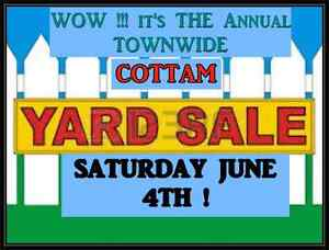ANNUAL COTTAM TOWNWIDE YARDSALE!!