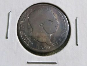 1820 SILVER SHILLING COIN 197 YEARS OLD