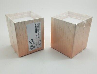 Lot Of 2 Ikea Pencil Holders Pen Cups Set Of 3 Kraft Pink -striped