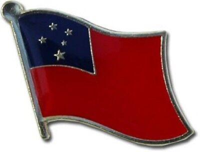 (SAMOA   HAT LAPEL FLAG PIN  - NEW)