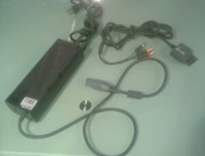 Xbox 360 power supply. EADP-175AB A 12V, 14.2A and video cable