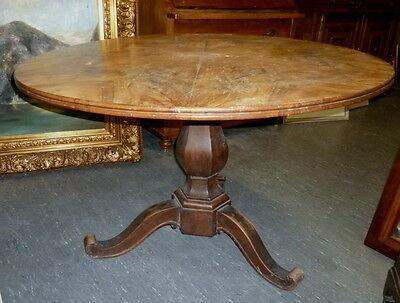 Großer runder Biedermeier Tisch  Ø  116 cm