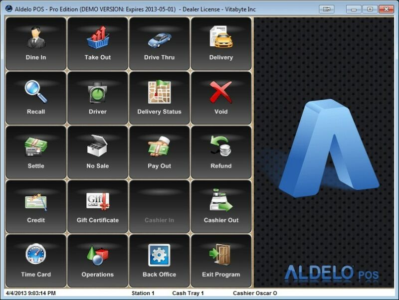 Aldelo POS PRO Software for All Restaurants NO Merchant Account Require!