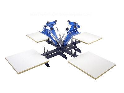 Four 4 Color 4 Station Screen Printing Press Four Machine Equipment Springer Sp