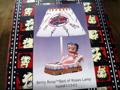 ~ vintage 1999 BETTY BOOP Bed of Roses LAMP • NEW in BOX ~ Vandor