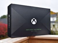 **SEALED** PROJECT SCORPIO EDITION XBOX ONE X 1TB BRAND NEW AND INCLUDES VERTICAL STAND & MORE