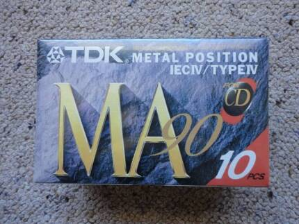 TDK MA90 Metal Position IECIV / TYPEIV Blank Audio Cassette Tape Norah Head Wyong Area Preview