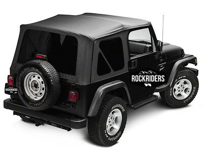 - 1997-2006 Jeep Wrangler (TJ) Replacement Soft Top with Tinted Rear Windows Black