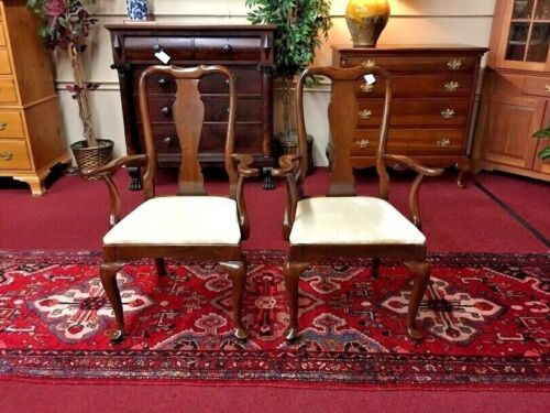 Vintage Kling Furniture Solid Cherry Arm Chairs - Pair - Delivery Available