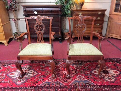 Baker Furniture Mahogany Chippendale Chairs - Pair - Delivery Available