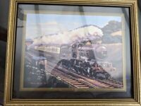 Collectable Set of 3 Mike Delany framed train prints, 5000, 46255 and 34042
