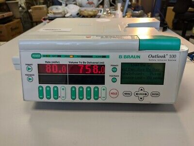 Lk B Braun Medical - Outlook 100 Safety Infusion System Iv Pump 620-100