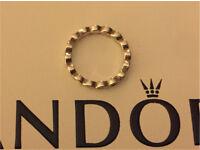 Pandora white enamel twist ring