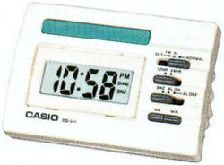 Casio DQ541D-7R White LED Light Digital Travel Alarm Clock with Snooze NEW